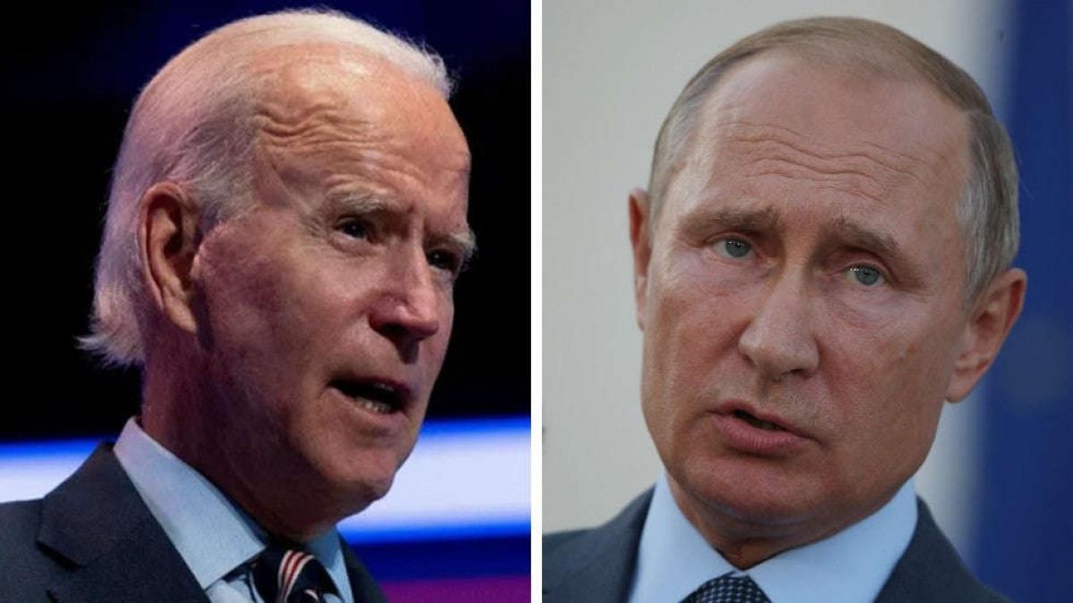 Tổng thống Mỹ Biden và Tổng thống Nga Putin. Ảnh: Getty.