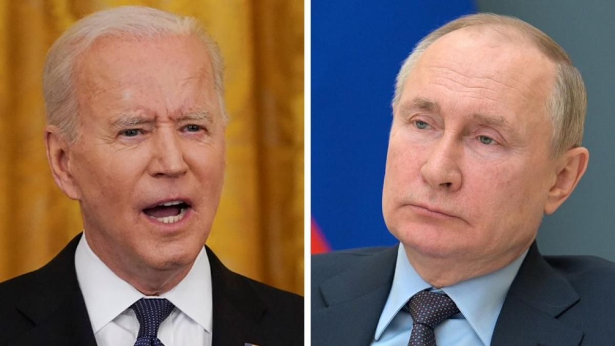 Tổng thống Biden và Putin. Ảnh: BBC.