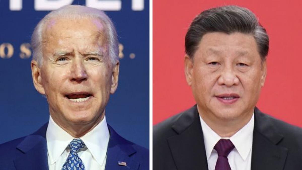 Tổng thống Mỹ Joe Biden và Chủ tịch Trung Quốc Tập Cận Bình. Ảnh: BBC