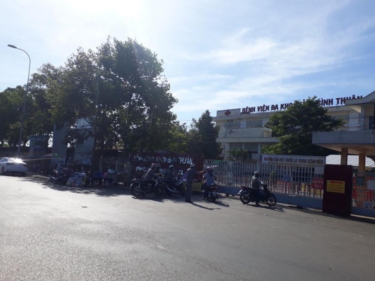 Bệnh viện Đa khoa tỉnh Bình Thuận - nơi đang điều trị 2 trường hợp (BN14252, BN14266)