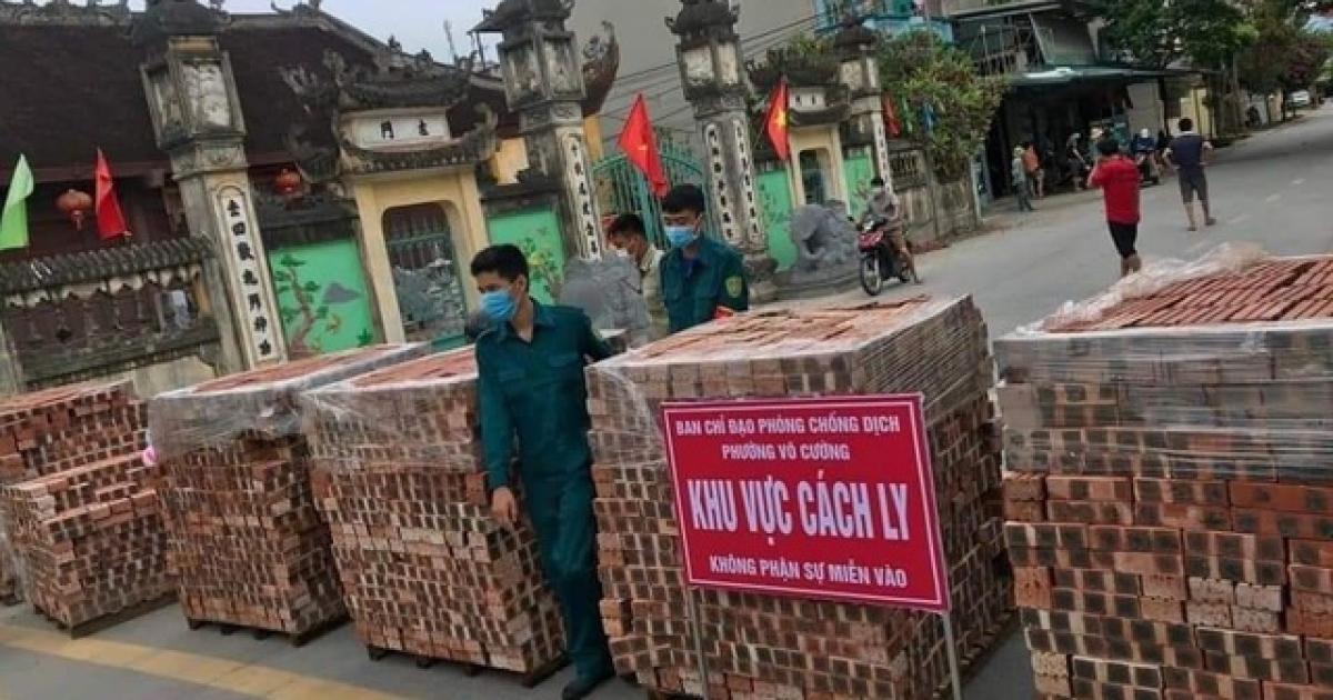 Các chốt phòng chống dịch trên địa bàn TP Bắc Ninh.
