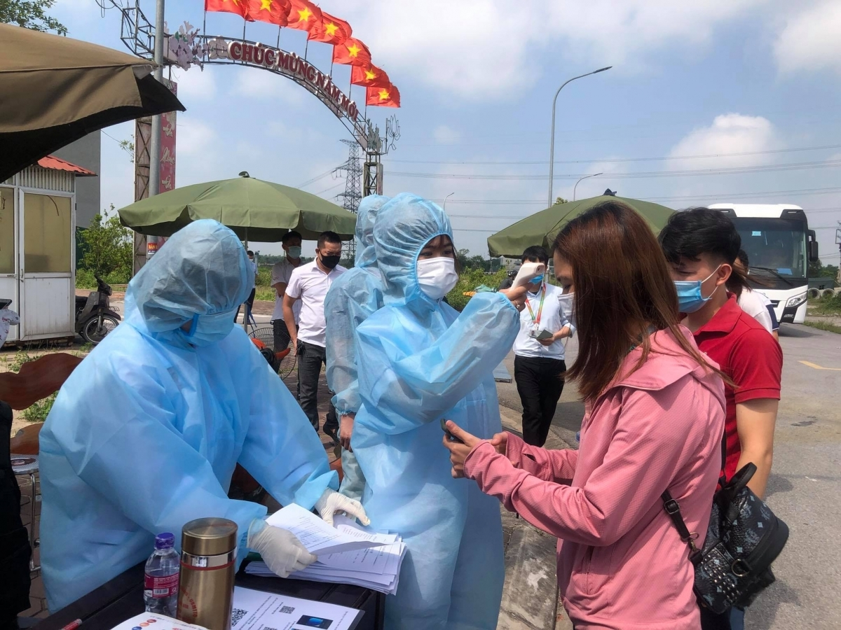 Bắc Ninh tiếp nhận lao động các địa phương trở lại làm việc.