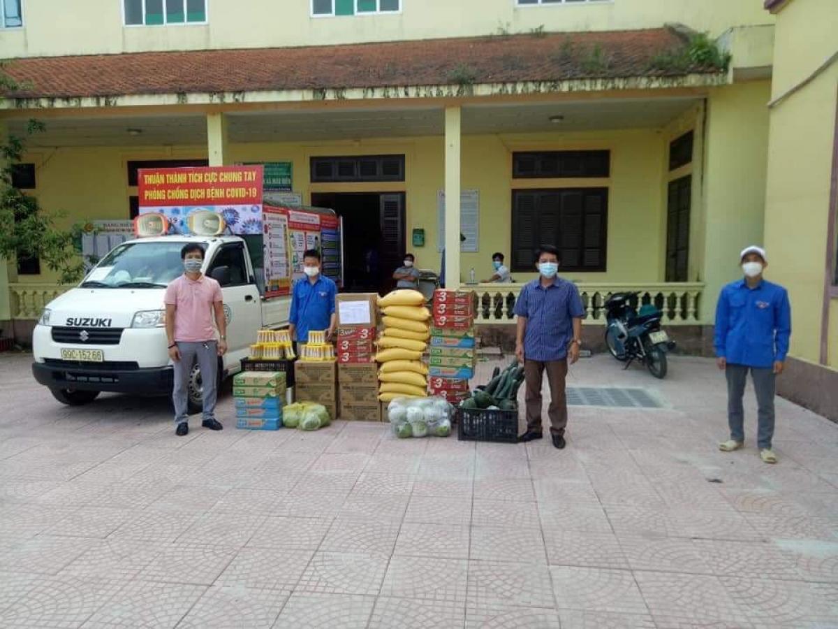 Hàng hóa của người dân gửi đến hỗ trợ người dân ở Bắc Ninh.