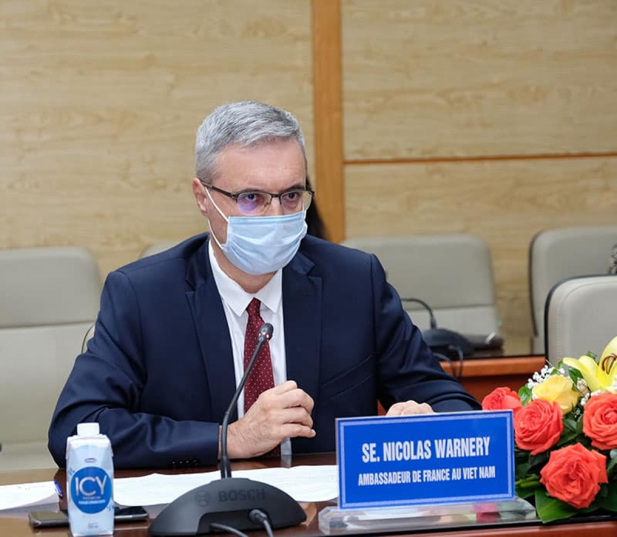 Đại sứ Pháp Nicolas Warnery. (Ảnh: Trần Minh)