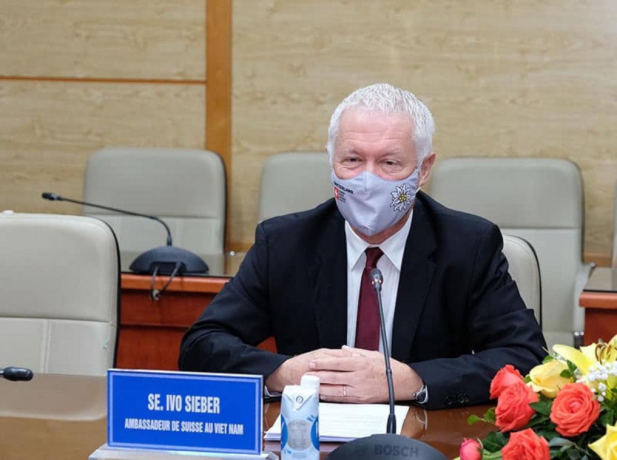 Ông Ivo Siebber, Đại sứ Thuỵ Sĩ. (Ảnh: Trần Minh)