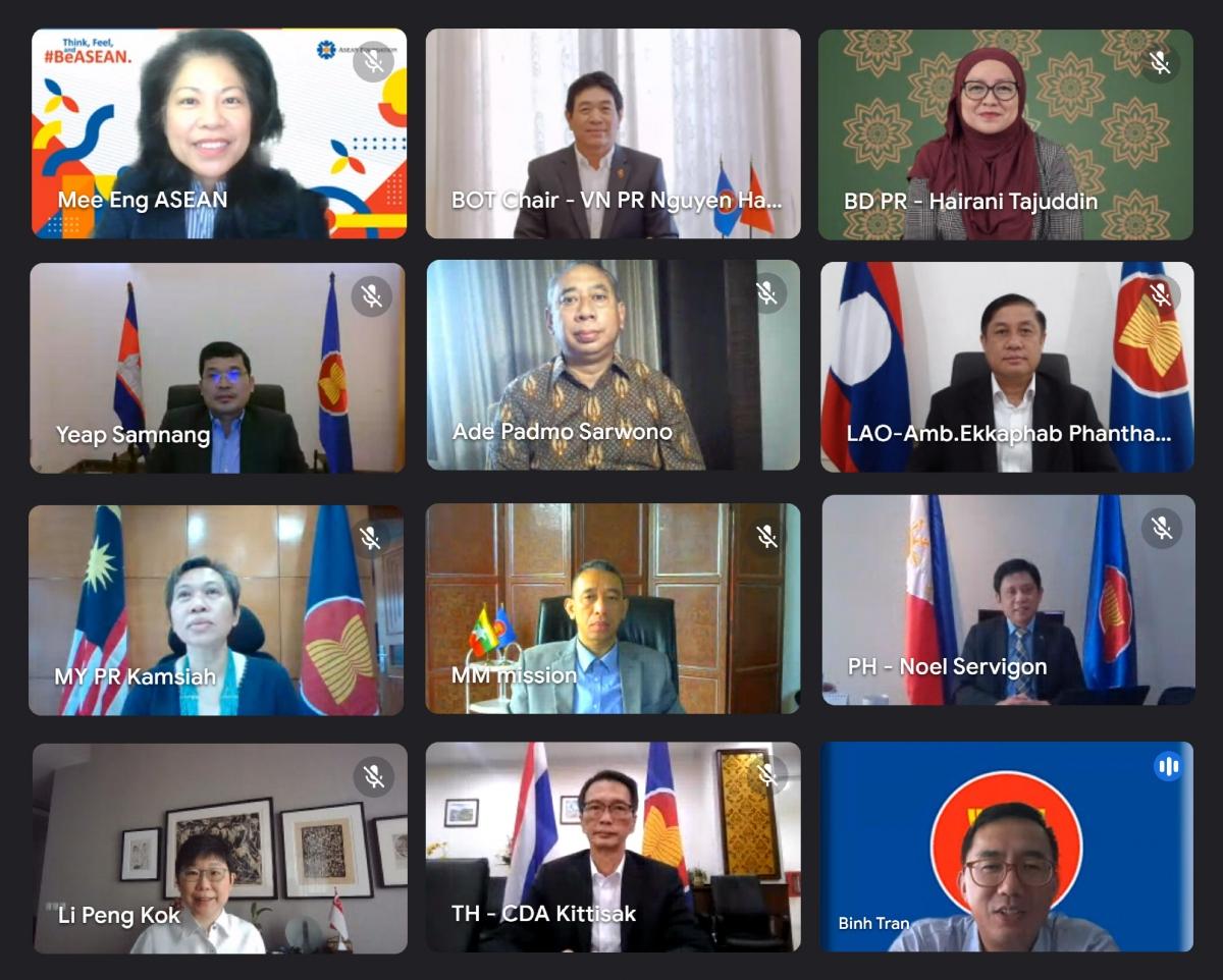 Cuộc họp lần thứ 46 của Hội đồng Uỷ thác Quỹ ASEAN tổ chức theo hình thức trực tuyến.