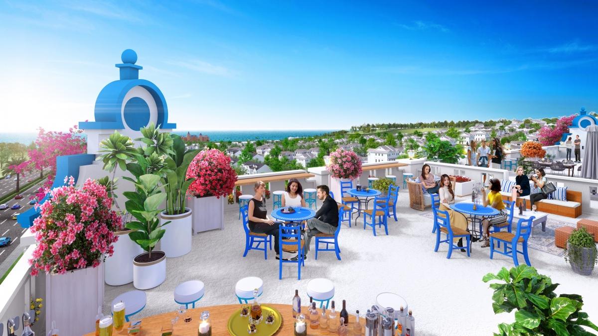 Tầng thượng của boutique hotel tại NovaWorld Phan Thiet với không gian mở và view biển hiếm có rất thích hợp để kinh doanh dịch vụ F&B. (Ảnh phối ảnh)