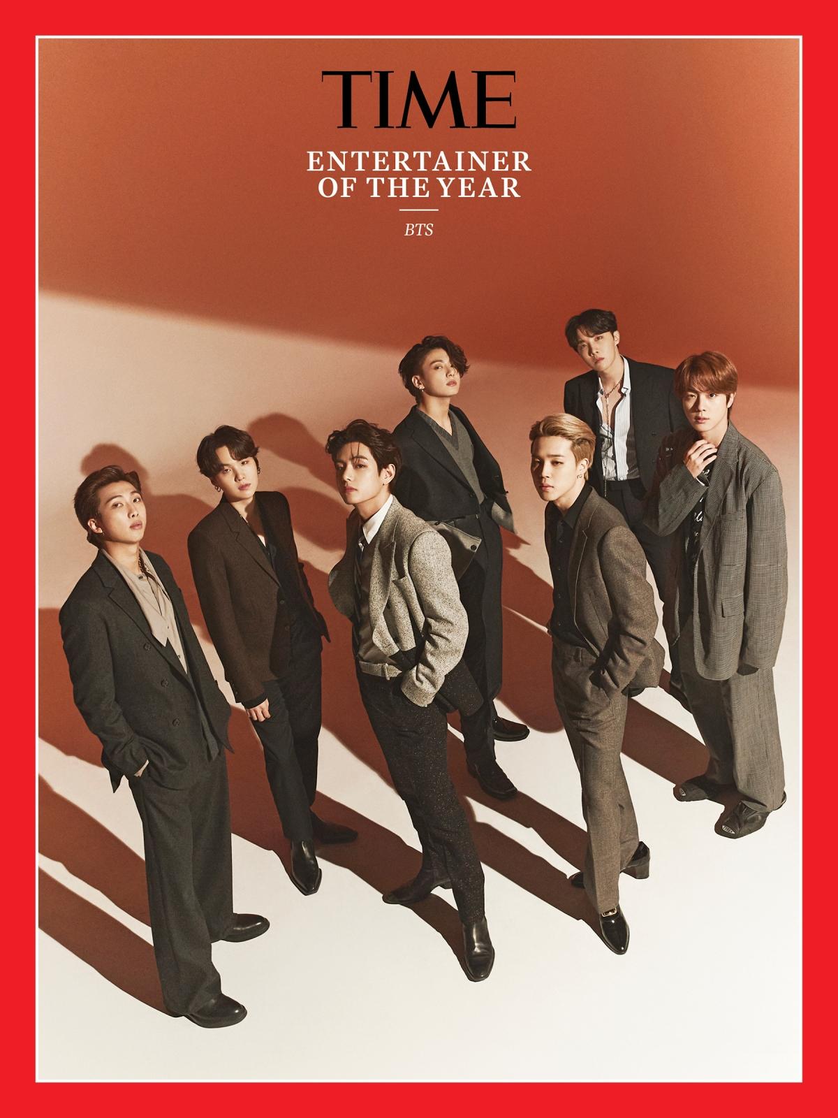 BTS được tạp chí Time vinh danh trên trang bìa.