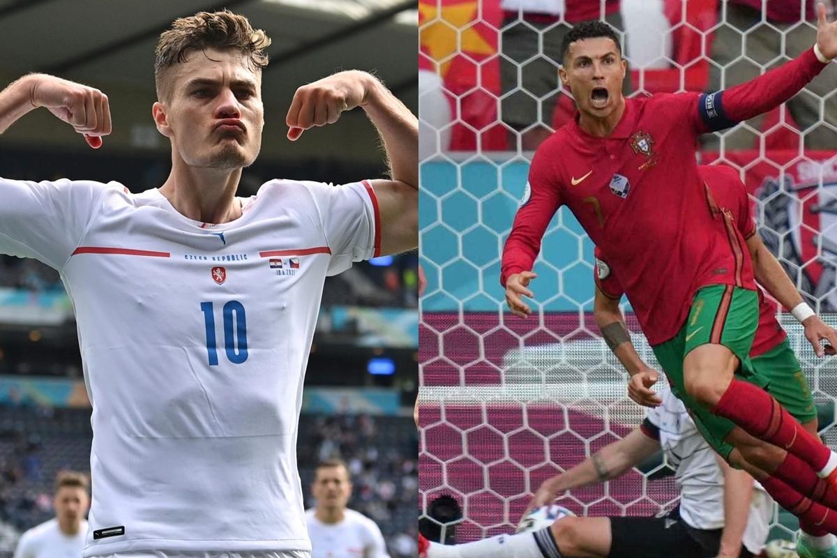 Patrik Schick và Cristiano Ronaldo đều đã ghi 3 bàn thắng ở EURO 2021