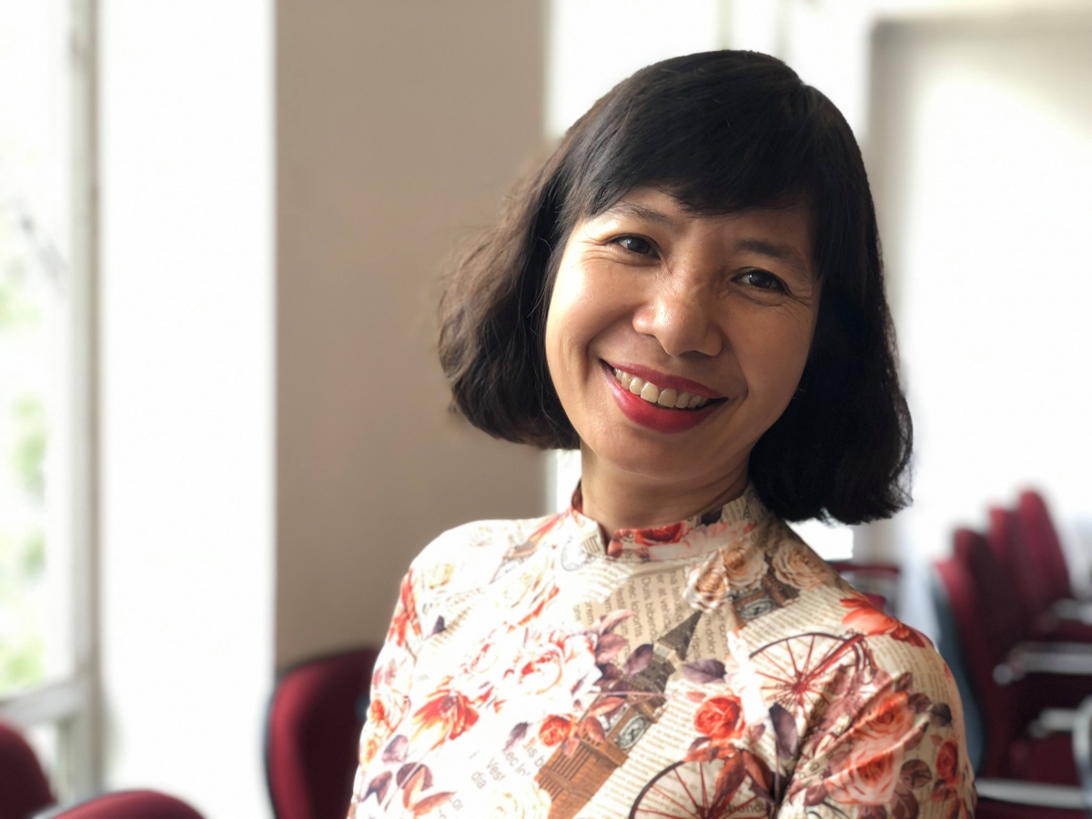 Nhà báo Minh Hạnh - thường trú VOV tại TP.HCM