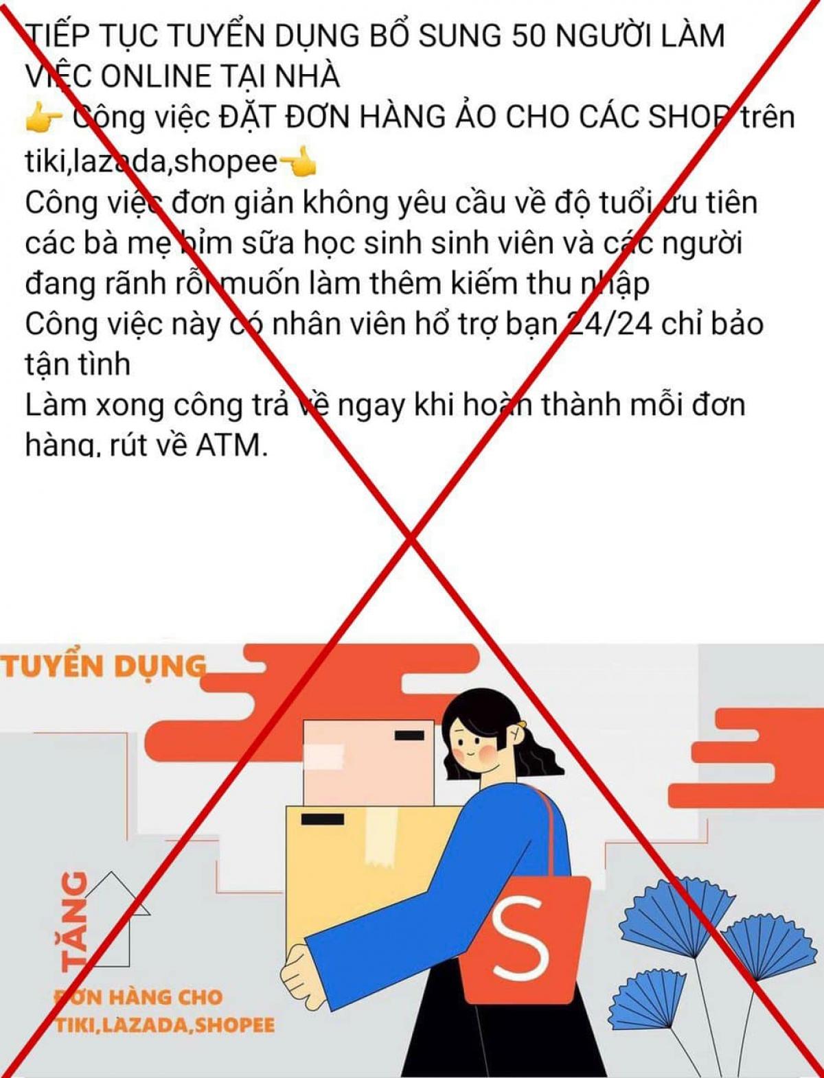 """Công an Hà Nội cảnh báo hoạt động của các ứng dụng, website """"giật"""" đơn hàng ảo"""