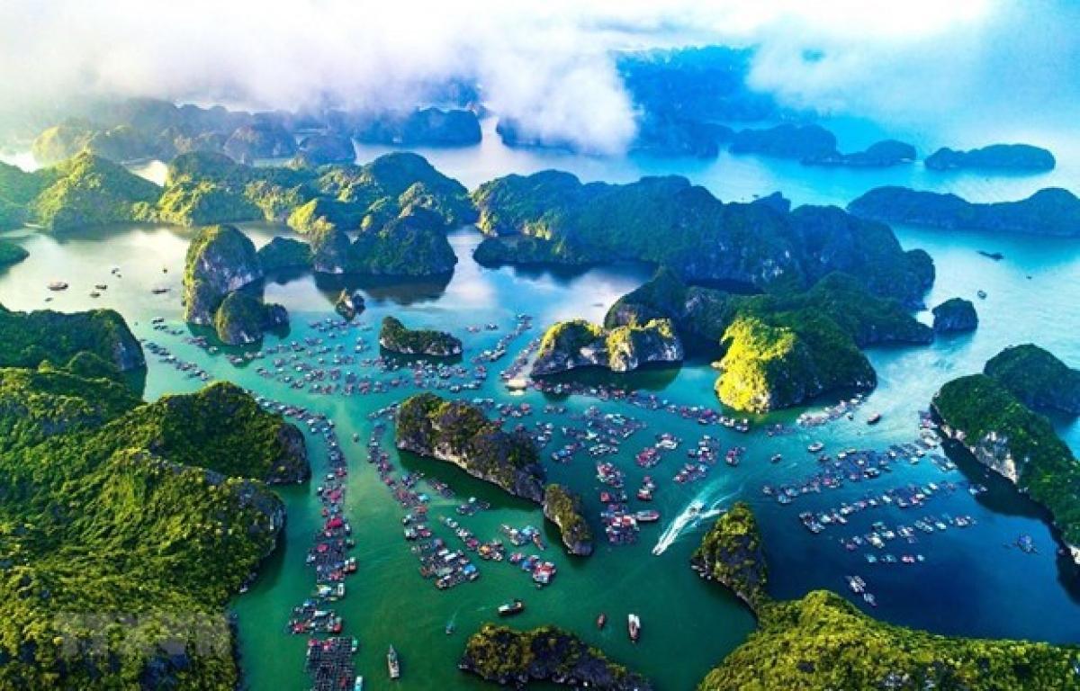 A bird's eye view of Cat Ba archipelago