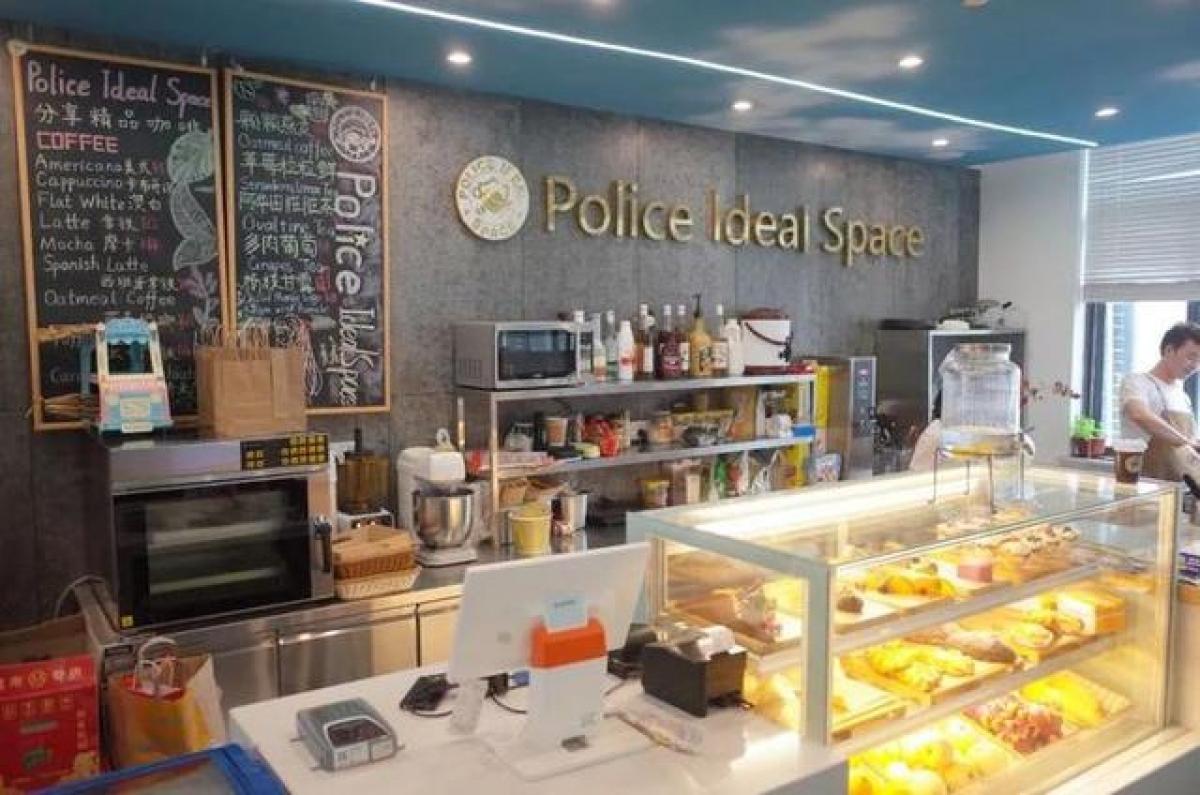 Quán Police Ideal Space. Ảnh: Công an Hàng Châu.