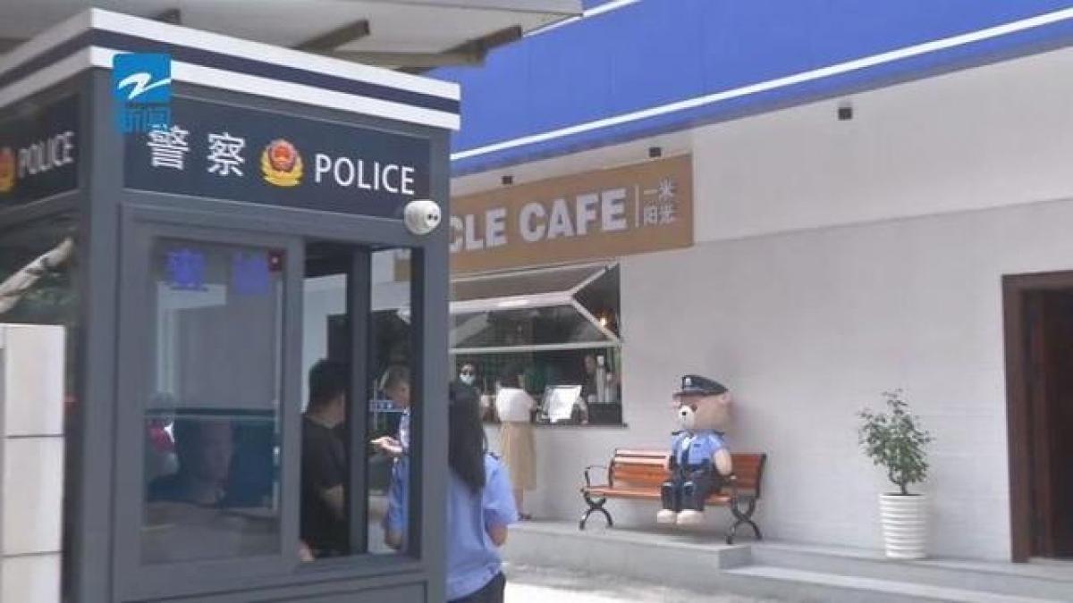 Quán Uncle Coffee. Ảnh: Truyền hình Chiết Giang.