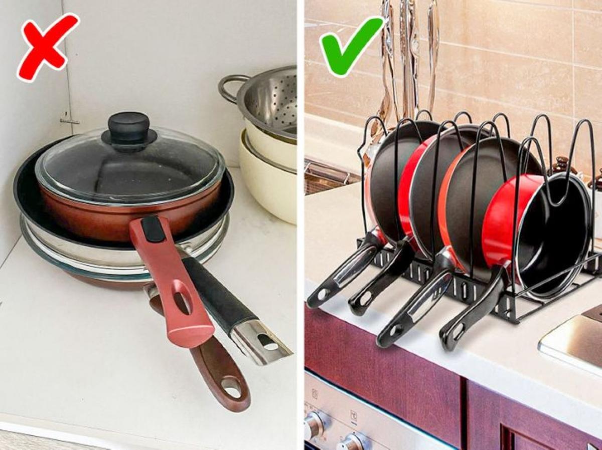 Với kệ úp chảo này, bạn sẽ không phải lo lắng về căn bếp lộn xộn nữa.