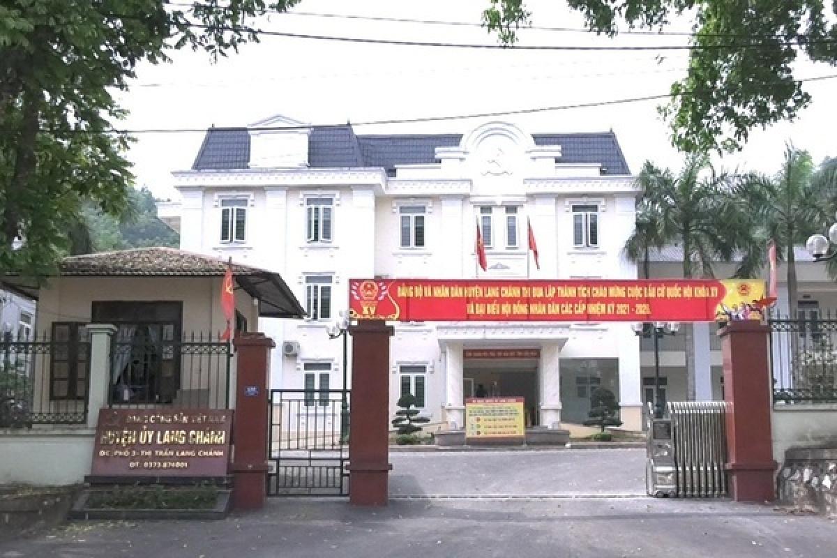 Huyện ủy Lang Chánh nơi ông Hưng công tác