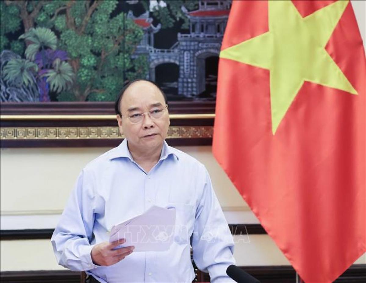Chủ tịch nước Nguyễn Xuân Phúc, Trưởng Ban Chỉ đạo Cải cách tư pháp Trung ương. Ảnh: Thống Nhất/TTXVN