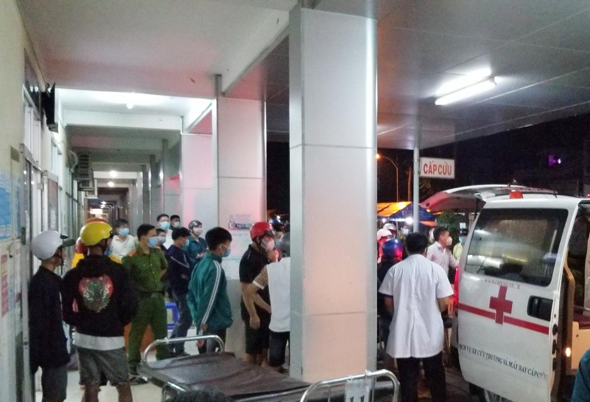 Hiện trường vụ việc xảy ra vào khuya ngày 10/6 tại Bệnh viện Sa Đéc.