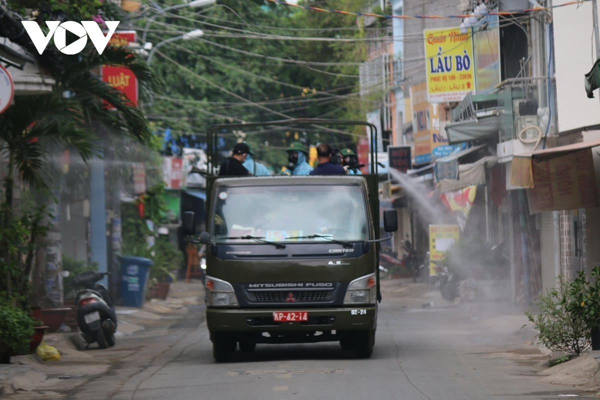 HCM CIty has disinfected a residential area in Go Vap district - a local COVID-19 hotspot in the city.