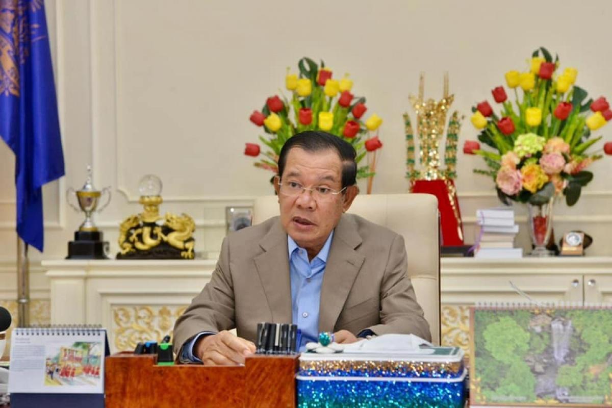 Thủ tướng Campuchia Hun Sen. (Ảnh: FB nhân vật)