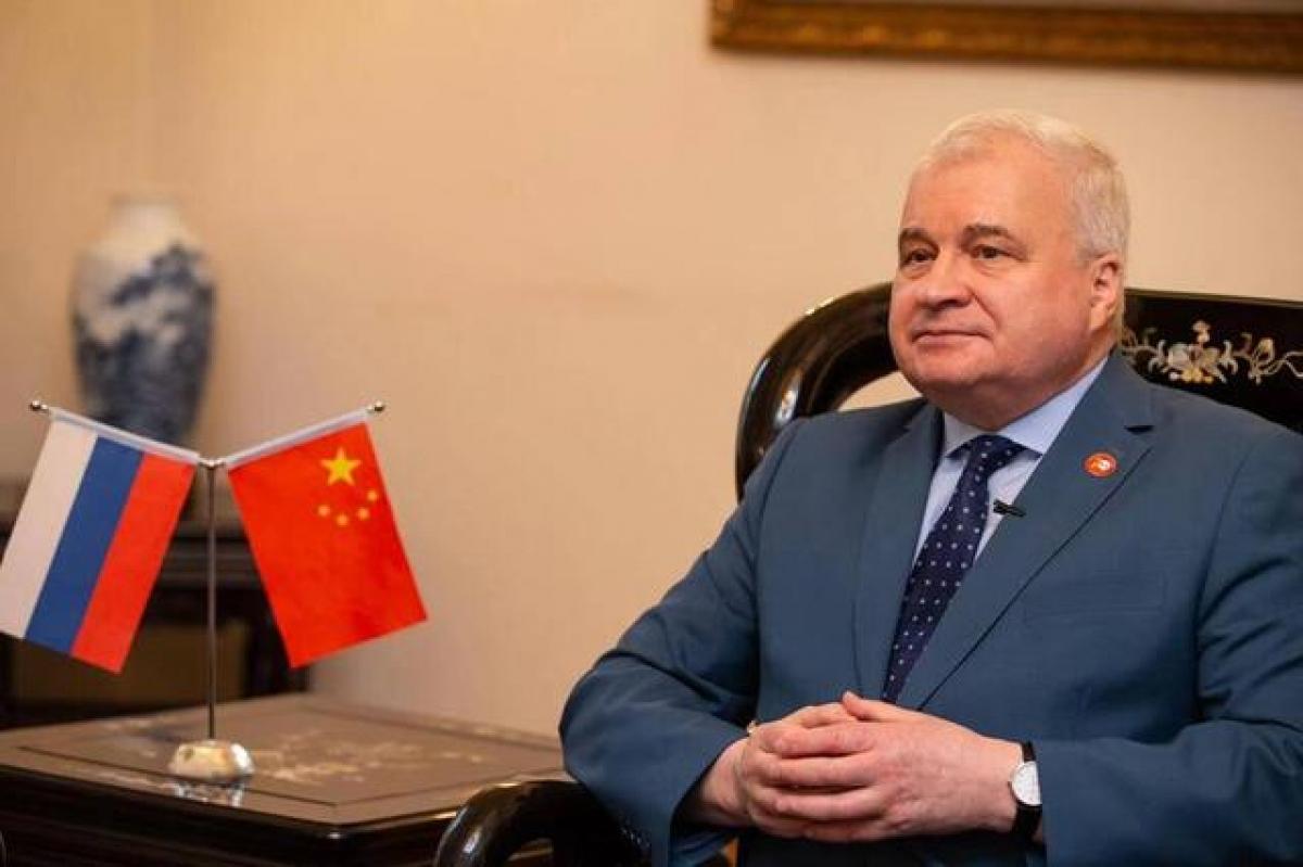 Đại sứ Nga tại Trung Quốc Andrey Denisov. Ảnh: Thời báo Hoàn cầu.