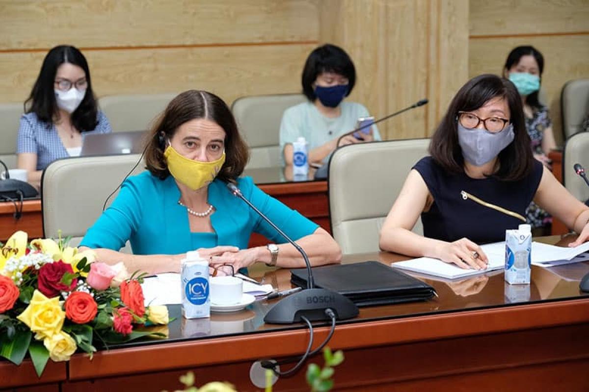 Bà Mobyn Mudie, Đại sứ Australia tại Việt Nam. (Ảnh: Trần Minh)