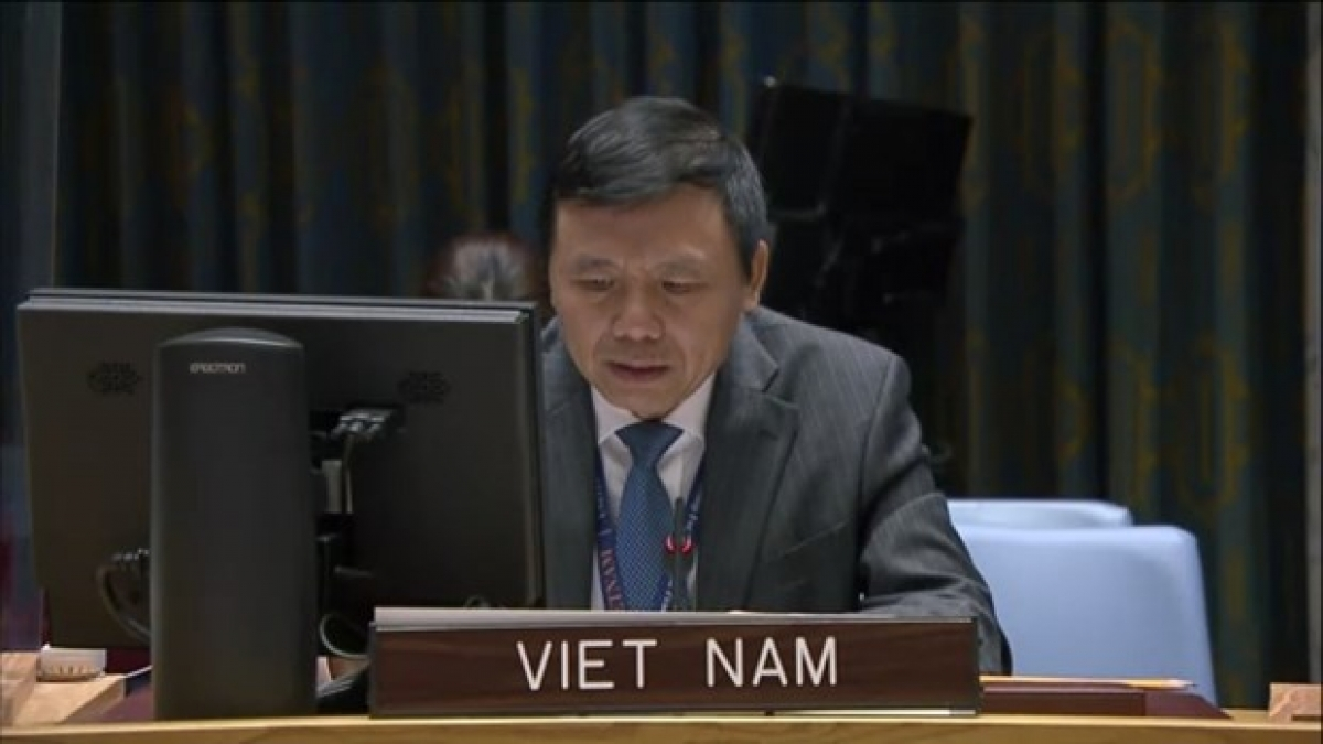 Ambassador Dang Dinh Quy, head of the Vietnam Mission to theUnited Nations. (Photo: VNA)