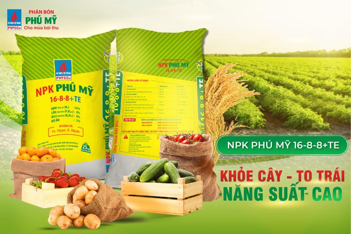 PVFCCo ra mắt sản phẩm NPK Phú Mỹ 16-8-8+TE.