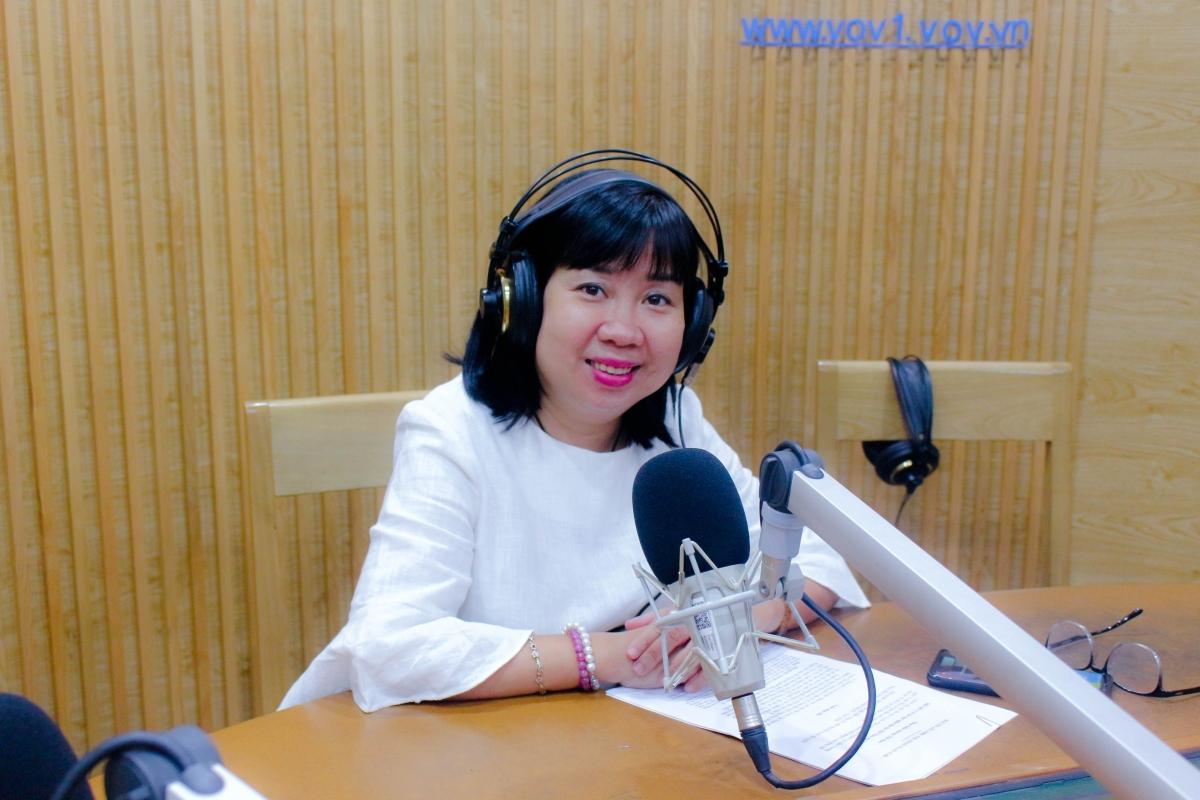 Nhà báo Hồ Điệp - Ban Thời sự (Ảnh: Nguyễn Hà)