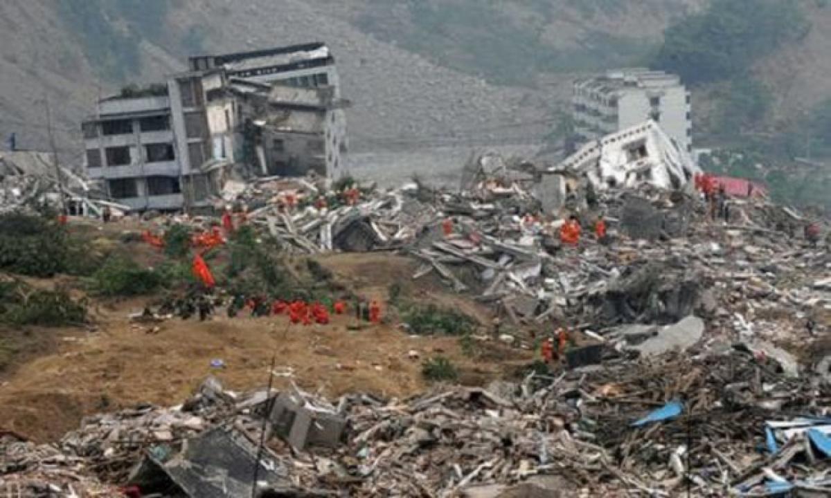 Một trận động đất tại Trung Quốc. Ảnh: Getty