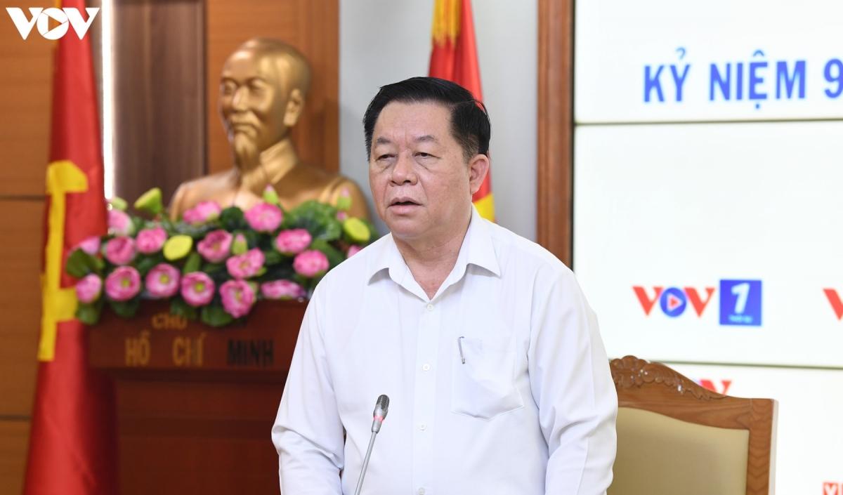 Trưởng Ban Tuyên giáo Trung ương Nguyễn Trọng Nghĩa bày tỏ tin tưởng trong thời gian tới Đài Tiếng nói Việt Nam sẽ hoàn thành tốt nhiệm vụ được giao.