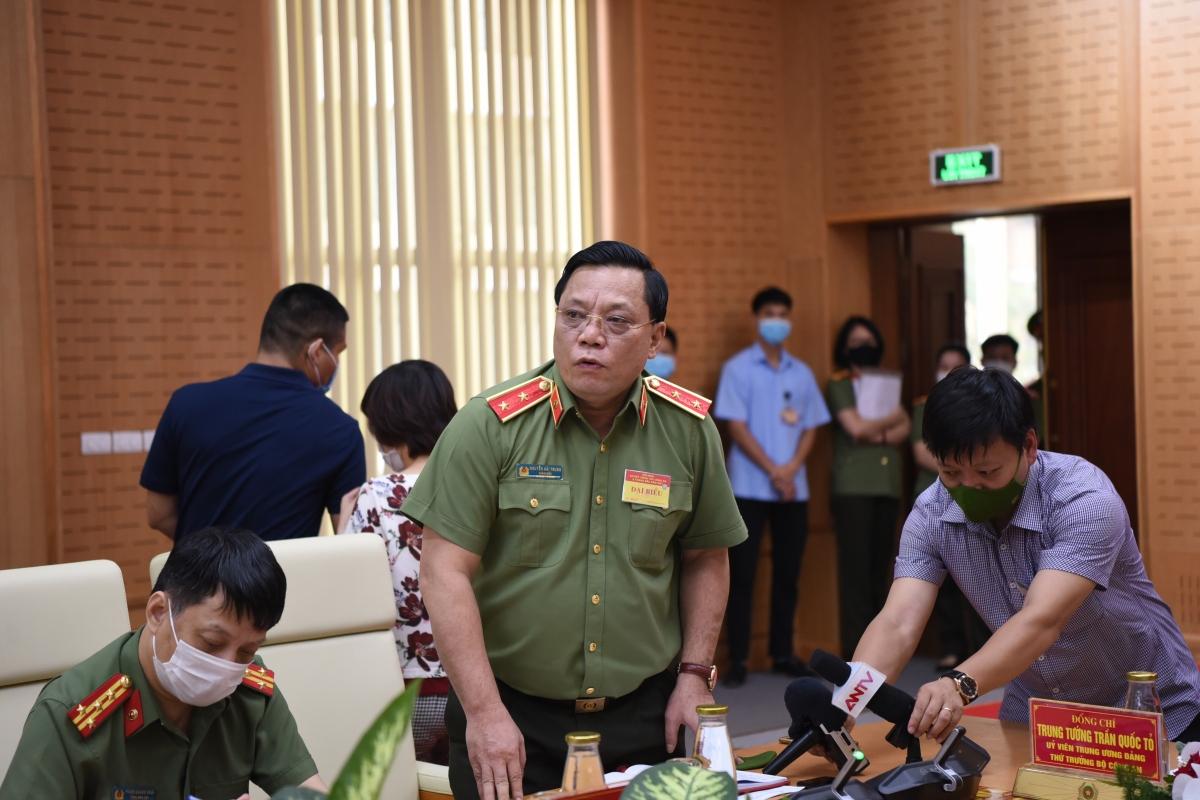 Trung tướng Nguyễn Hải Trung, Giám đốc Công an TP Hà Nội. (Ảnh: Trọng Phú)