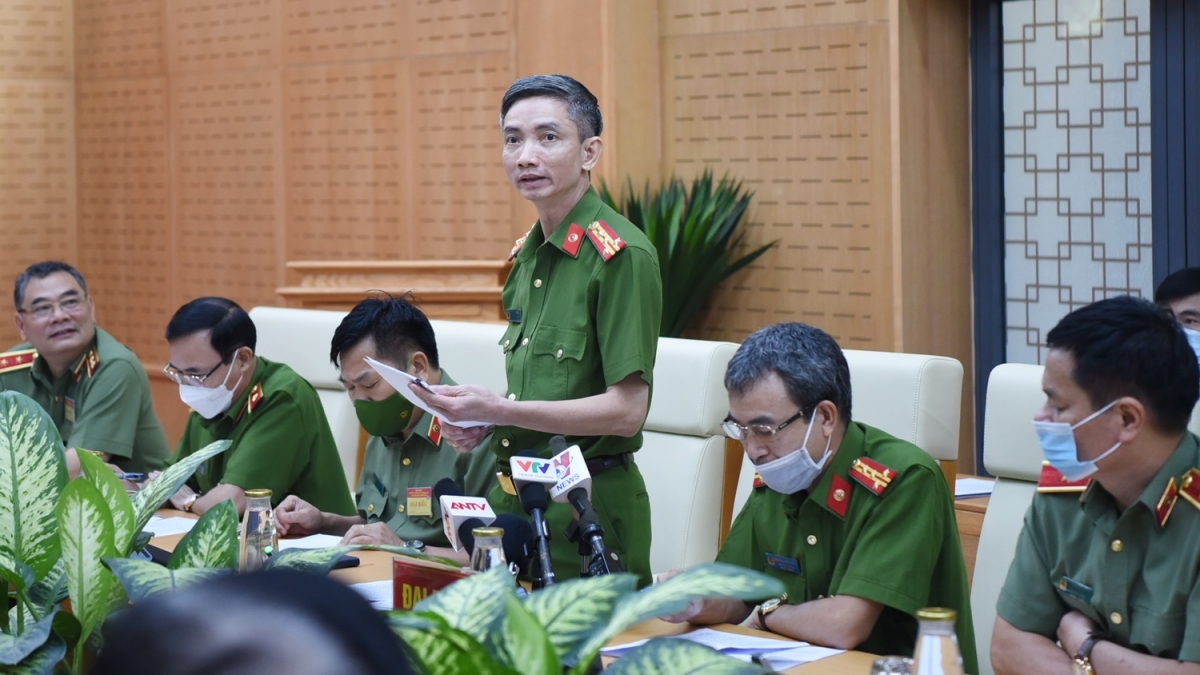 Đại tá Vũ Quốc Thắng, Phó Chánh Văn phòng Cơ quan Cảnh sát điều tra, Bộ Công an. (Ảnh: Trọng Phú)