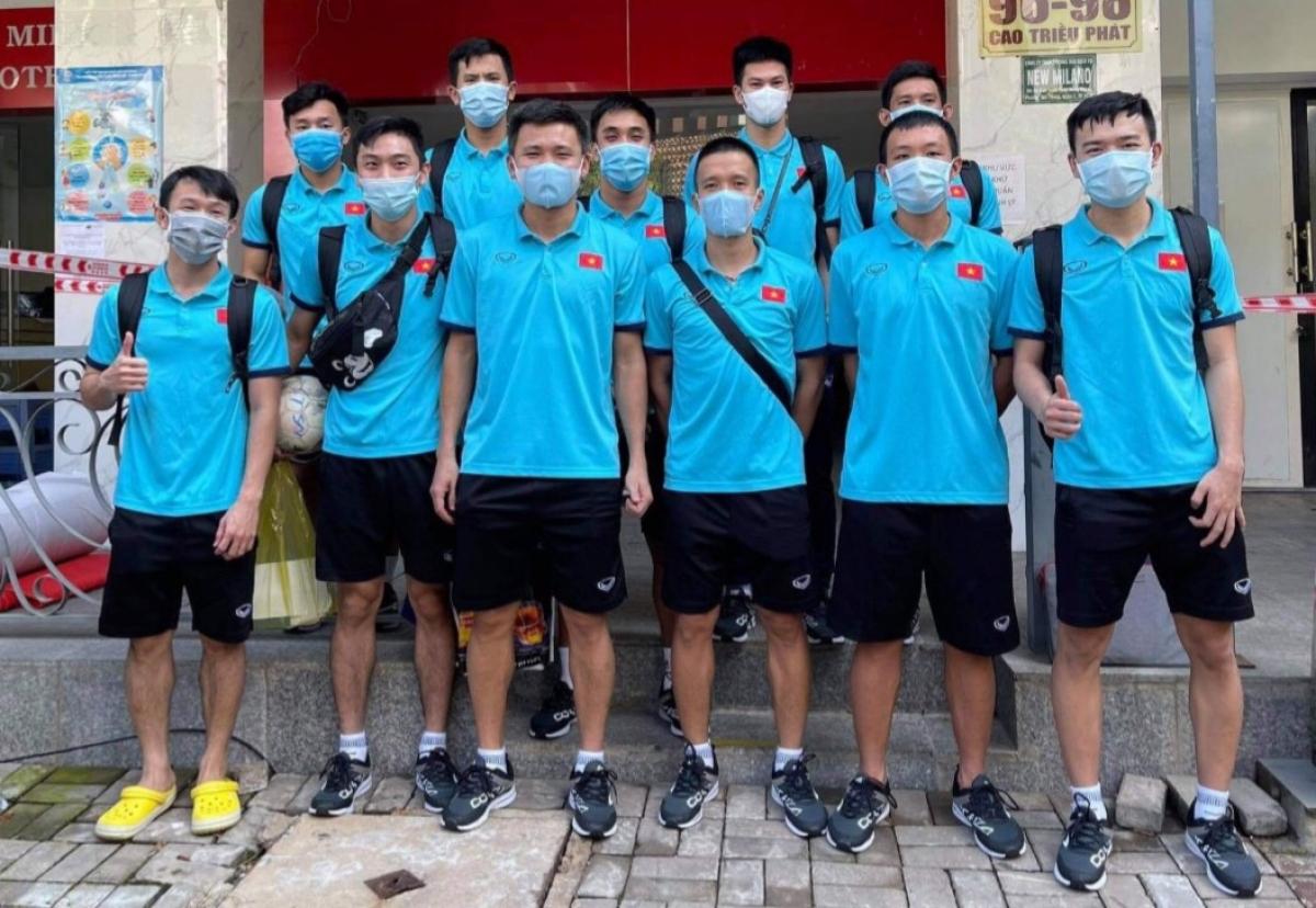 ĐT Futsal Việt Nam hoàn thành cách ly, trở về nhà tiếp tục theo dõi. (Ảnh: VFF)