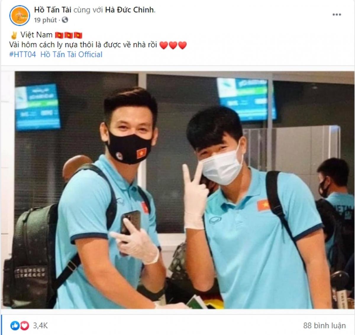 Các tuyển thủ sẽ thực hiện cách ly 7 ngày tại khách sạn, sau khi Bộ Y tế đồng ý đề xuất thời gian cách ly 7 ngày đối với các thành viên ĐT Việt Nam.