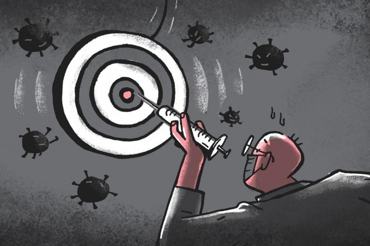 Những ước tính dựa trên các biến thể mới cho thấy, số người bị lây nhiễm virus sẽ cao hơn và khiến thời gian dự kiến để đạt miễn dịch cộng đồng kéo dài hơn. (Ảnh minh họa: SCMP)