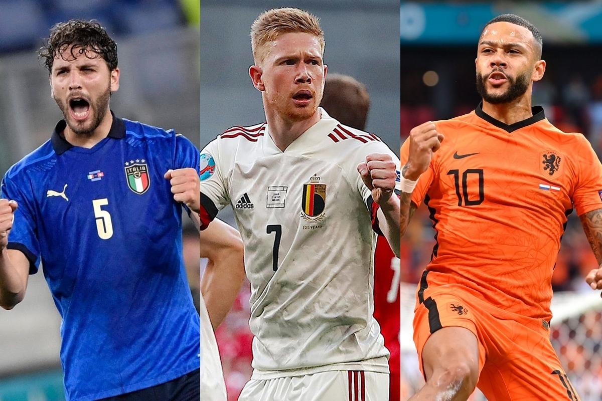 3 đội đã giành vé vào vòng knock-out EURO 2021 sau 2 lượt trận vòng bảng là Italia, Bỉ, Hà Lan.