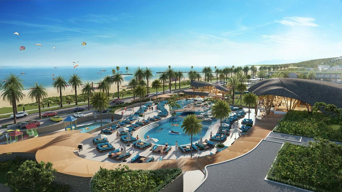 Phối cảnh CLB bãi biển tại Bikini Beach thuộc dự án NovaWorld Phan Thiet. (Ảnh phối cảnh: Novaland)