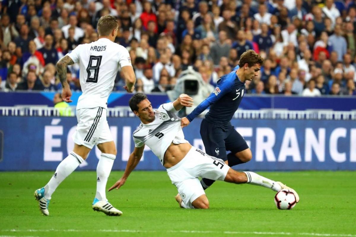 Pháp gặp Đức sẽ là trận cầu tâm điểm của EURO đêm nay. (Ảnh: Getty).