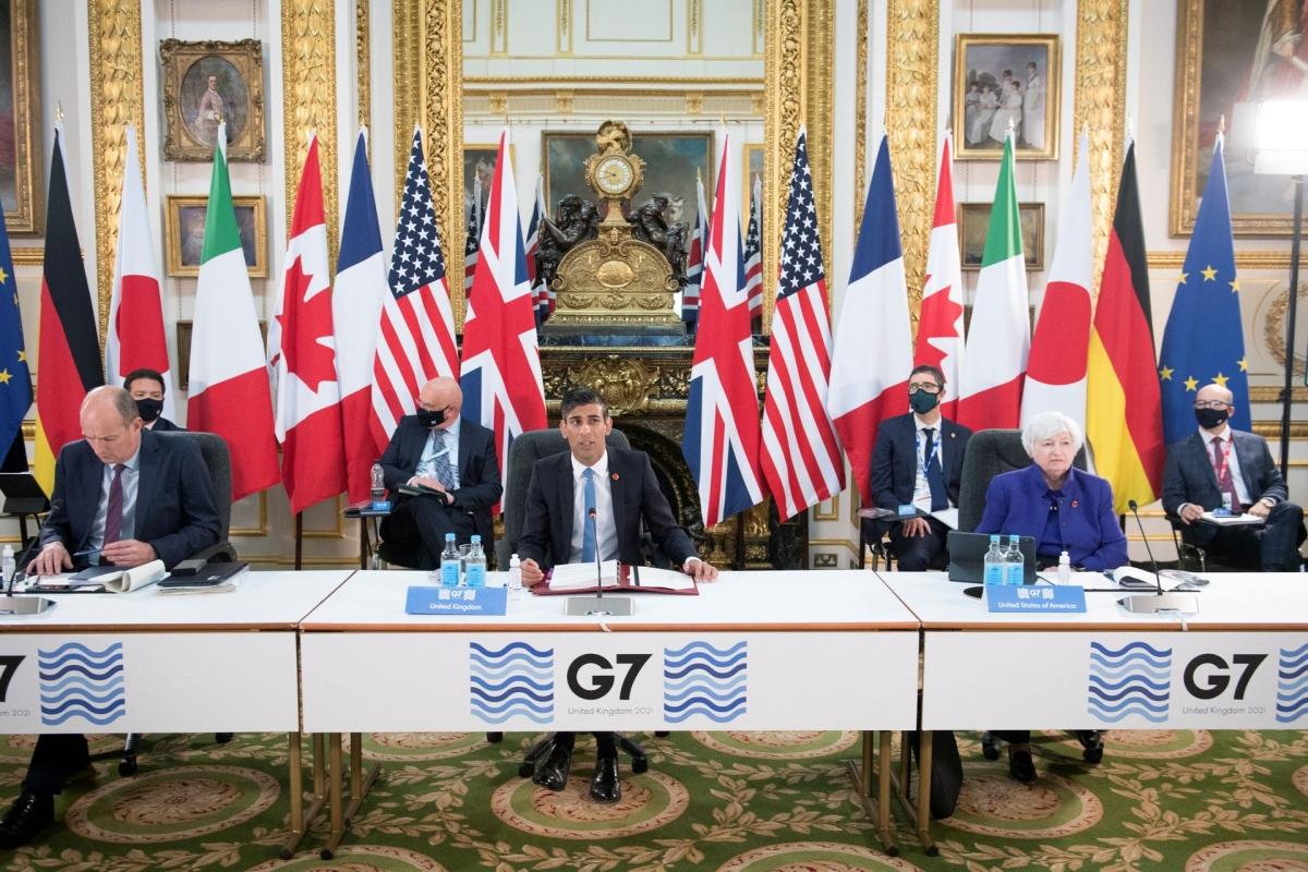 Các nước G7 ngày 5/6 đã đạt được thỏa thuận về thuế thu nhập doanh nghiệp toàn cầu. Ảnh: Reuters