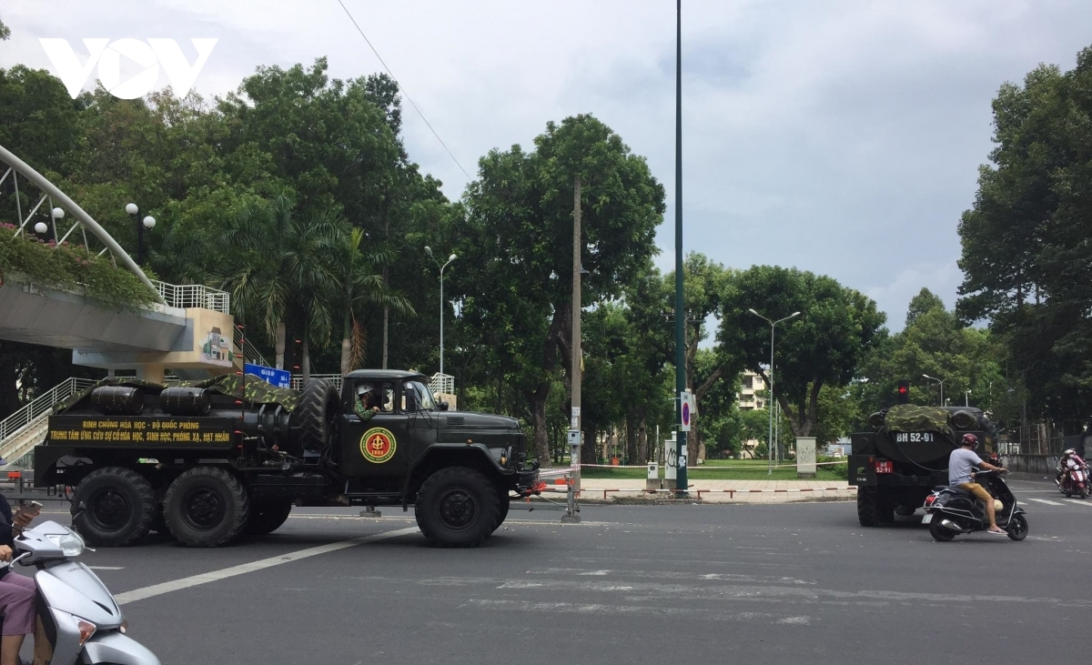 Nguyen Thai Son, Pham Ngu Lao, and Thong Nhat streets are among the key places in Go Vap district where chemicals are sprayed.