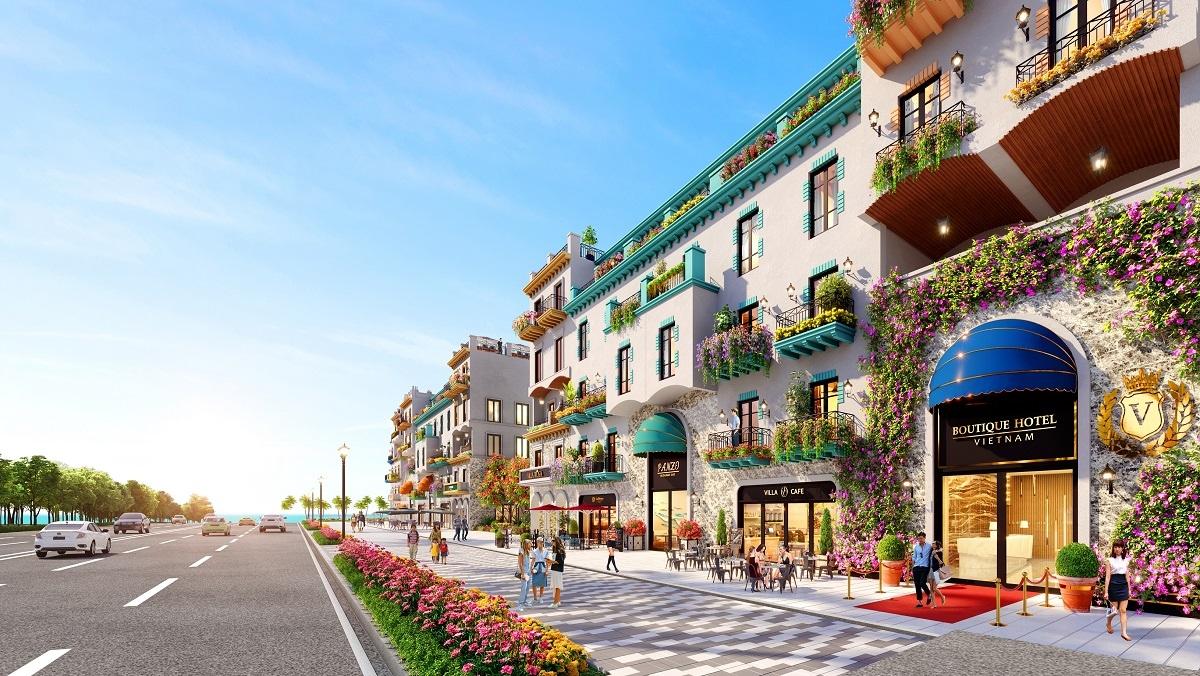 Boutique hotel nâng cao trải nghiệm cho du khách nhờ thiết kế độc đáo và cá nhân hóa để nâng cấp chất lượng dịch vụ cho du khách. (Ảnh phối cảnh: Dãy boutique hotel tại NovaWorld Phan Thiet)