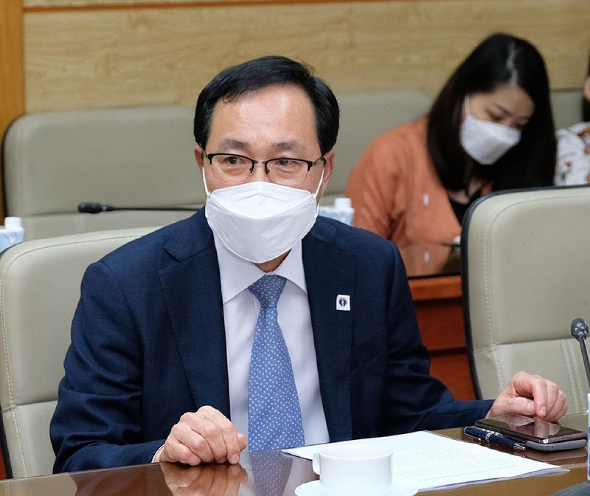 Ông Choi Joo Ho, Tổng Giám đốc Samsung Việt Nam. (Ảnh: Trần Minh)