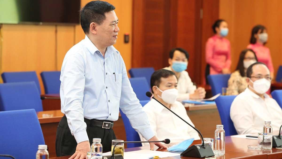 Ông Hồ Đức Phớc - Bộ trưởng Bộ Tài chính phát biểu tại buổi Lễ.