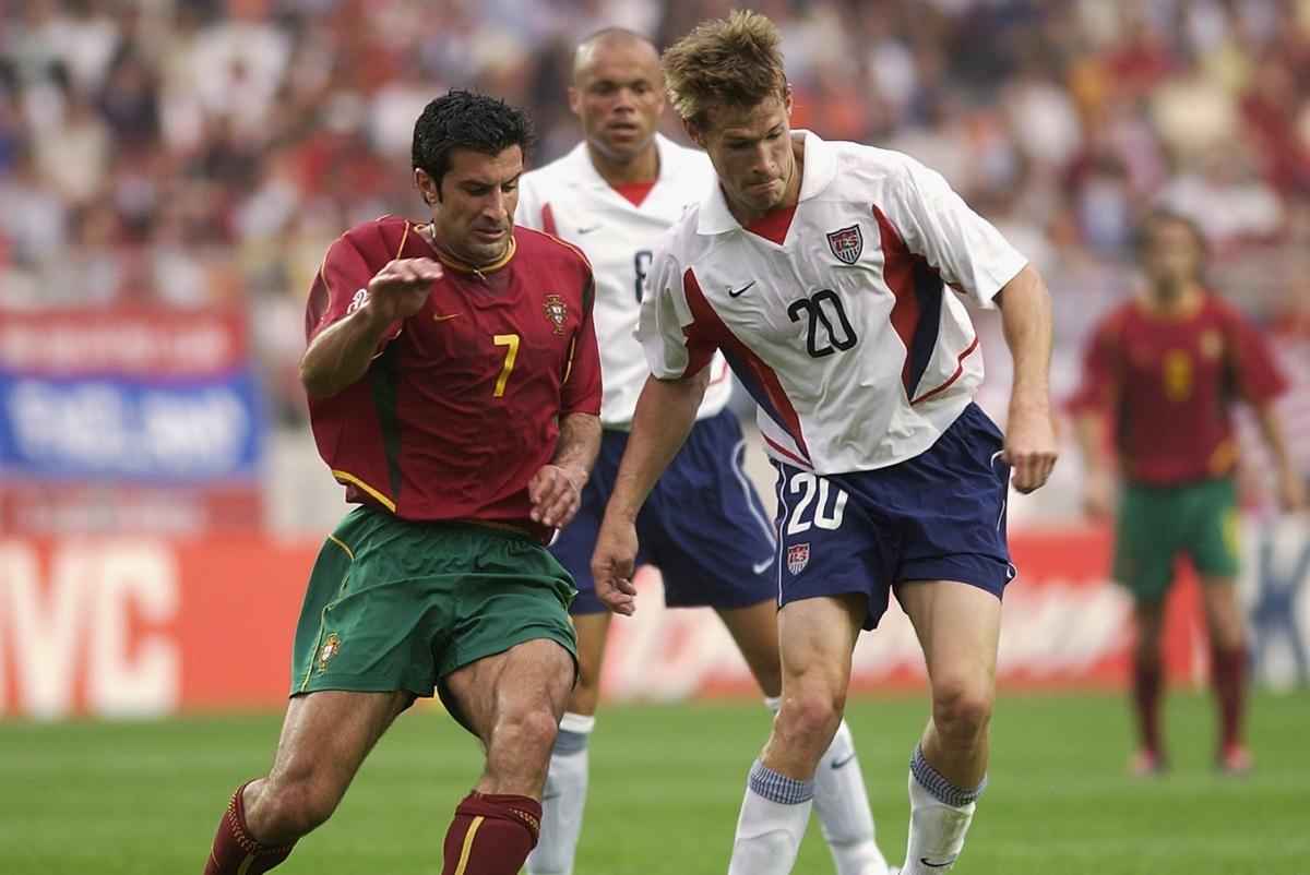 Ngày này 19 năm trước, ĐT Bồ Đào Nha nhận trận thua bất ngờ trước ĐT Mỹ ở World Cup 2002. (Ảnh: Getty).