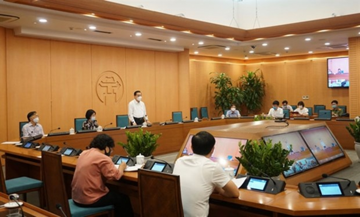 City officials during a meeting to discuss preparation work for the upcoming high school exams, in which over 93,000 students will sit for during this weekend (Photo: Government Portal)