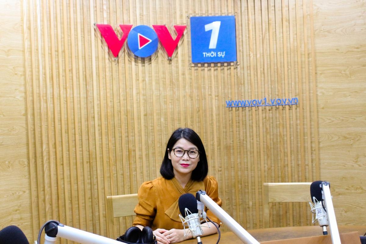 Nhà báo Thu Hòa - Ban Thời sự (Ảnh: Nguyễn Hà)