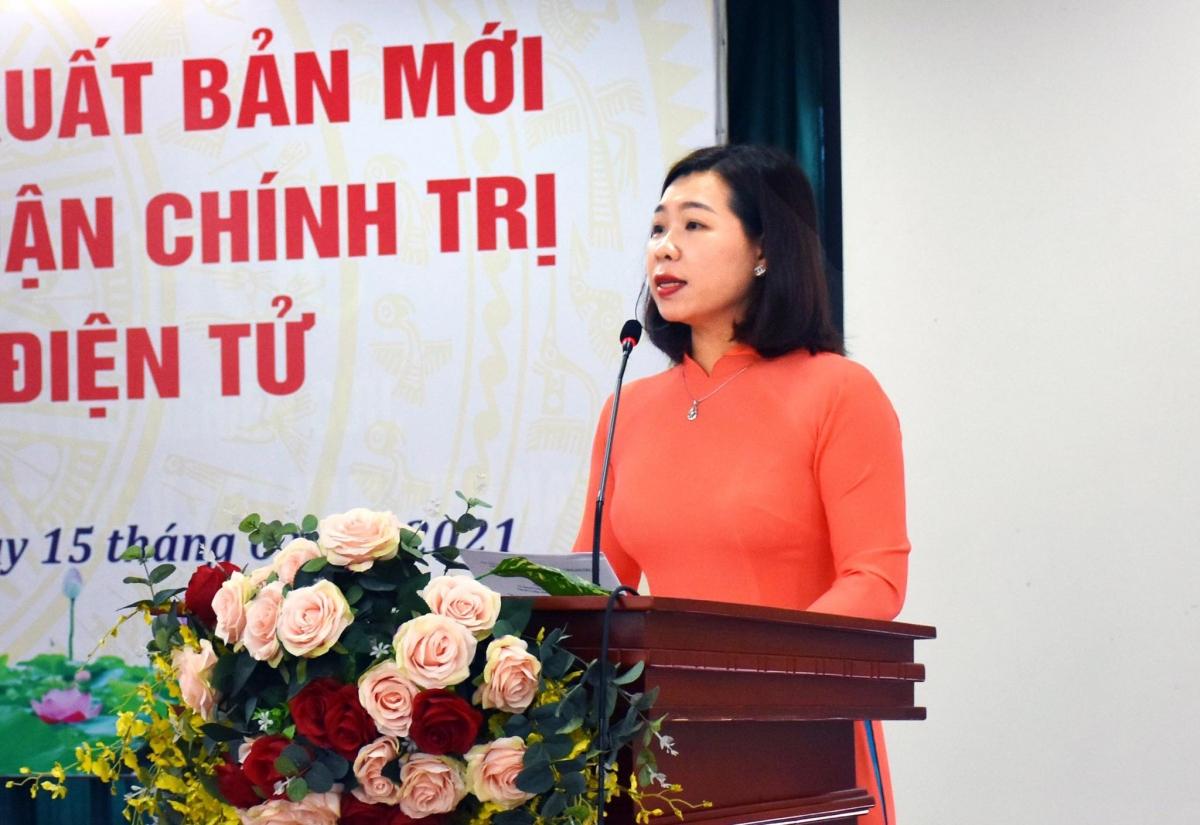 PGS-TS. Nguyễn Thị Trường Giang, Phó Giám đốc Học viện, Tổng biên tập Tạp chí Lý luận chính trị và Truyền thông