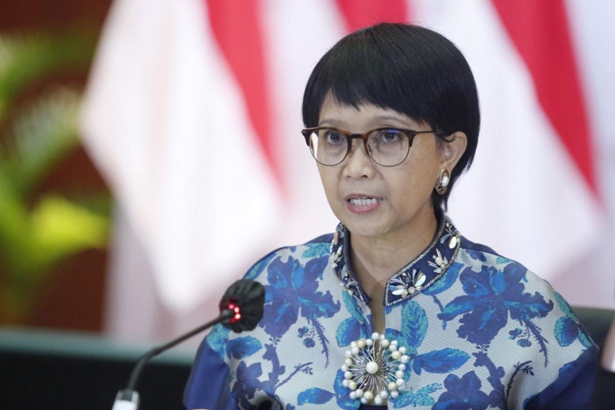 Ngoại trưởng Indonesia Retno Marsudi. Ảnh: KEMLU RI