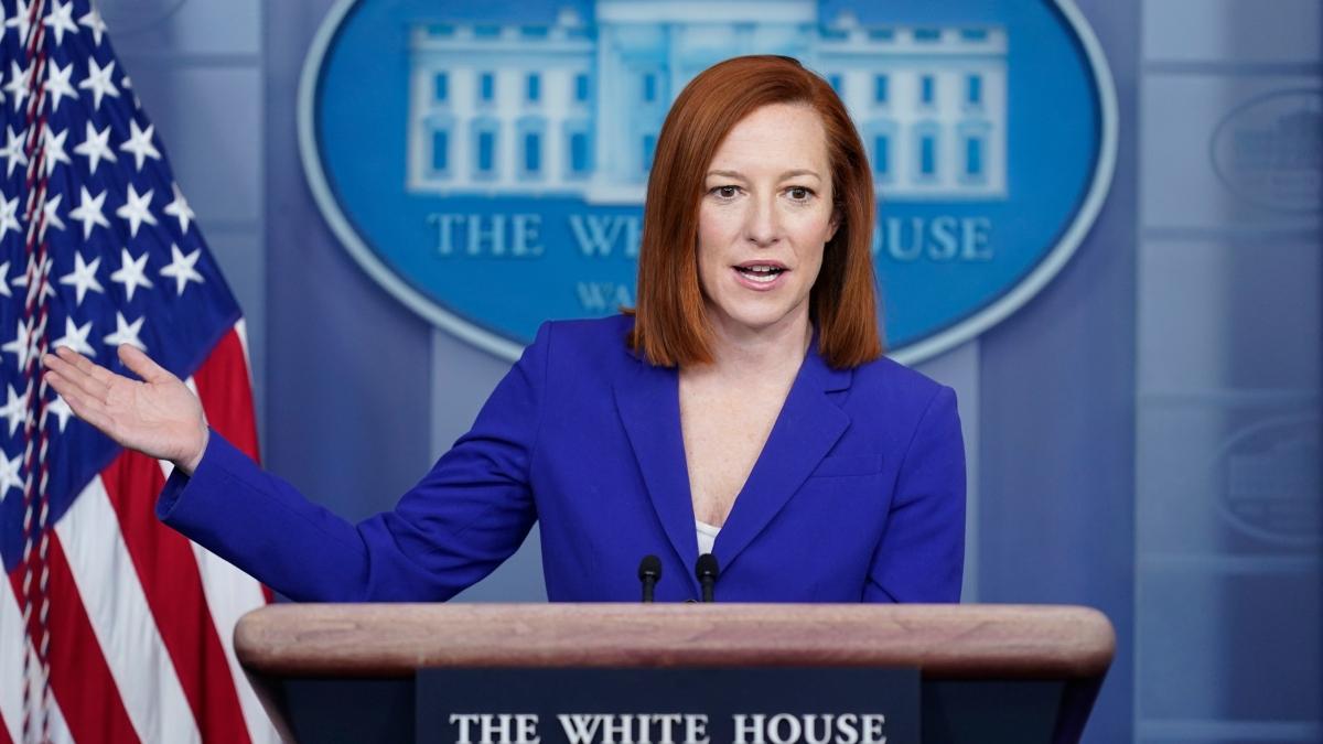 Thư ký báo chí Nhà Trắng Jen Psaki. Ảnh: AP